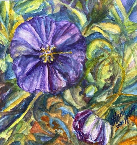 Lindy Cook Severns Art | Petite and Purple, original watercolor