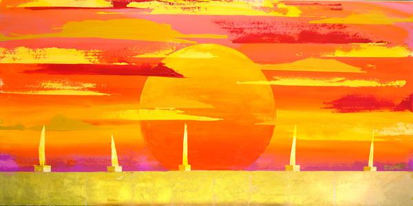 Sunset Sail Hi Res Art   benbonart