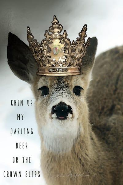Crowned Deer Chin Up Art
