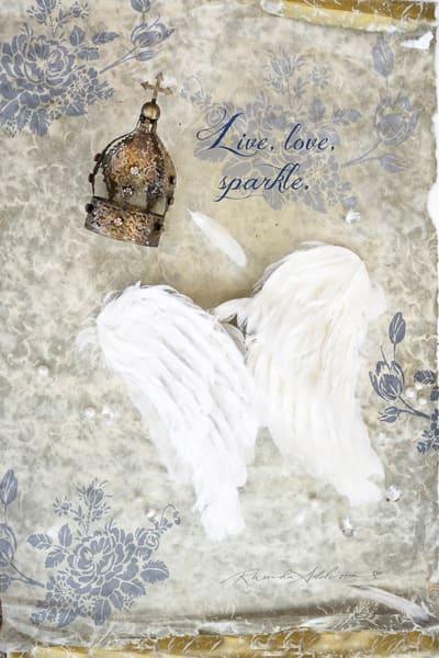 CROWN & WINGS Live Love Sparkle Art