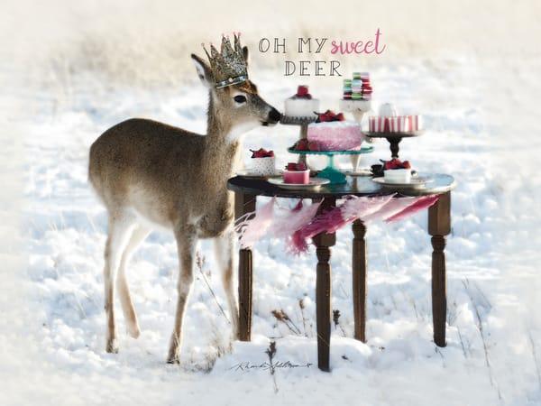 Deer Party in the Snow Art