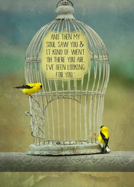 Sparkly Yellow Bird Art