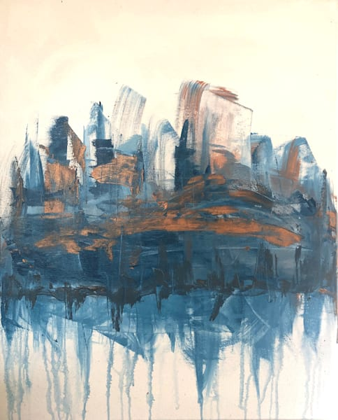 cityscape, abstract city, original painting