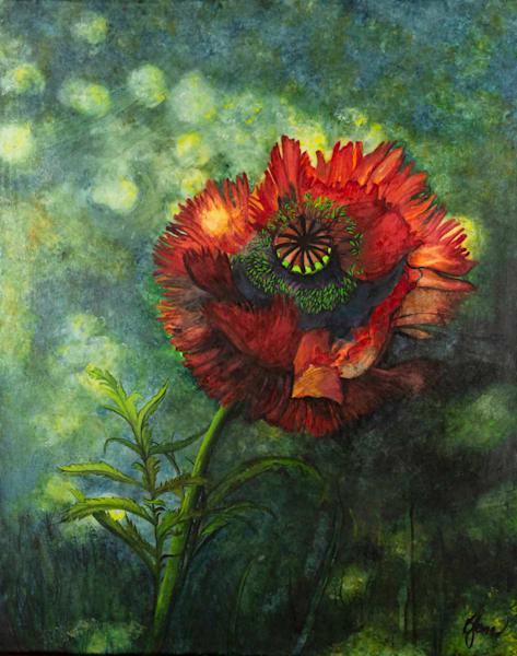 Poppy In The Shade Art   Jones Family Art