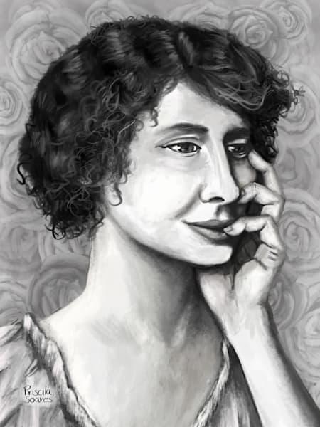 Deaf Blind Helen Keller Portrait Painting