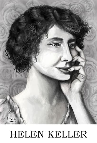 Helen Keller   With Name Art   Priscila Soares - MyLuckyEars