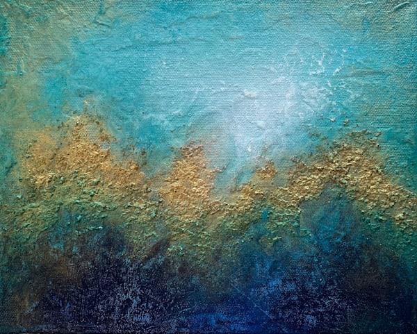 Blue And Gold 05 Art | Kristina Duewell Art