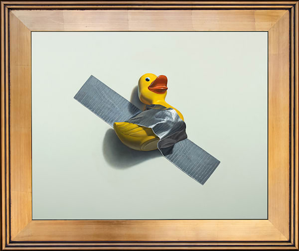 Duck Taped: Homage to Maurizio Cattelan painting by Kevin Grass