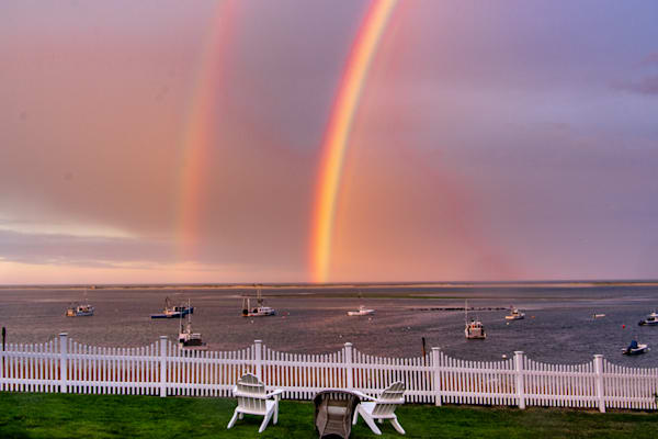 Three Seats And Two Rainbows Photography Art   The Colors of Chatham