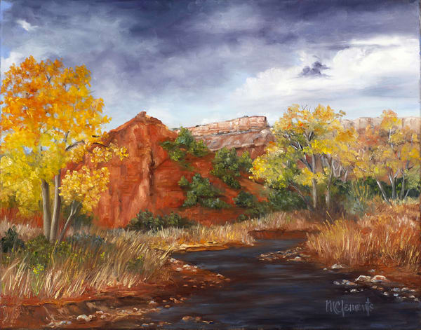 Fortress In Fall Art | Marsha Clements Art