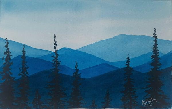 """Hills and Hues - 3"" Art Print by Aprajita Lal"