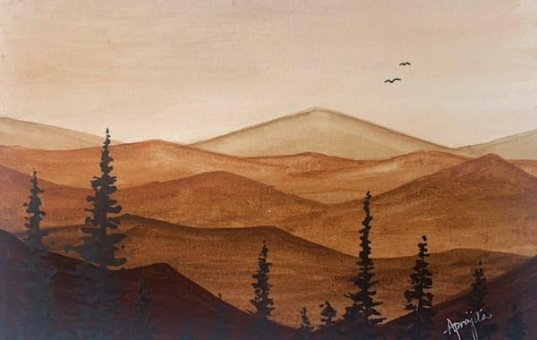 """Hills and Hues - 1"" Art Print by Aprajita Lal"