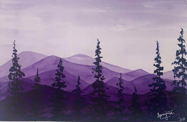 """Hills and Hues - 2"" Art Print by Aprajita Lal"