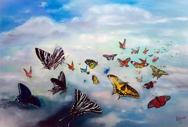 Flight Of The Butterflies Art | Jones Family Art