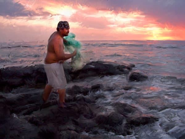 Net Fisherman Art | Rick Peterson Studio