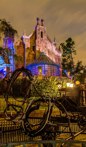Disneys Haunted Mansion And Stage Coach   Disney Phone Case Photography Art | William Drew Photography