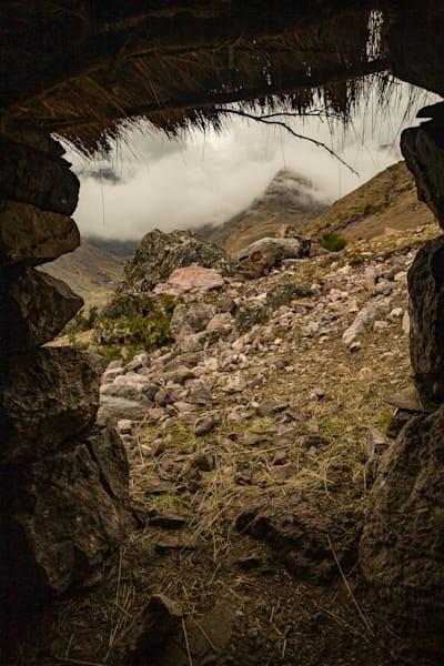 Stone hut view