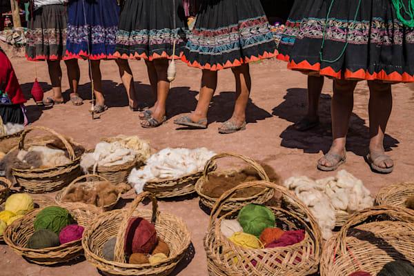 Baskets of yarn