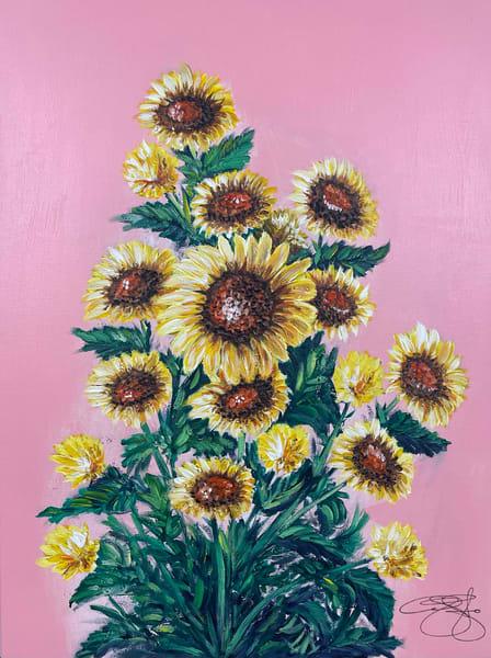 Sunflower Symphony Art   Anthony Joseph Art Gallery