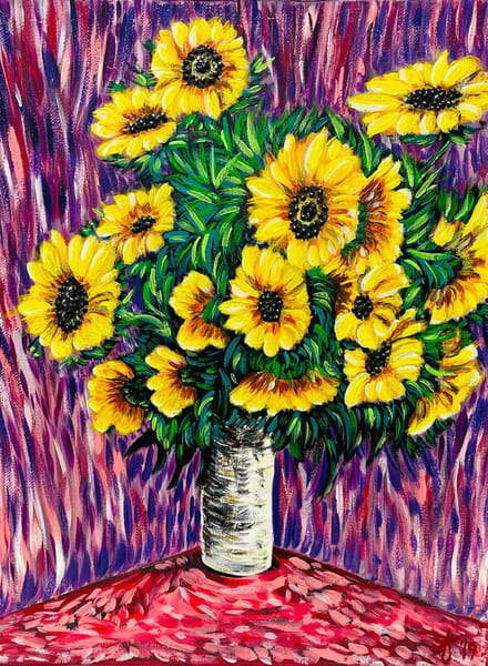 Sunflowers Art   Anthony Joseph Art Gallery