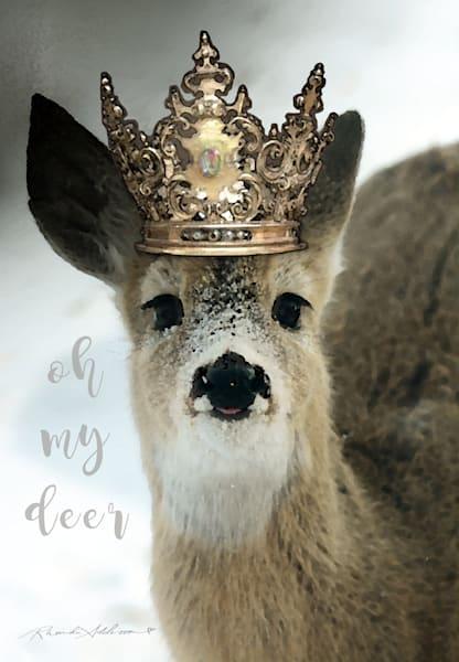 Crowned Deer in Snow Art