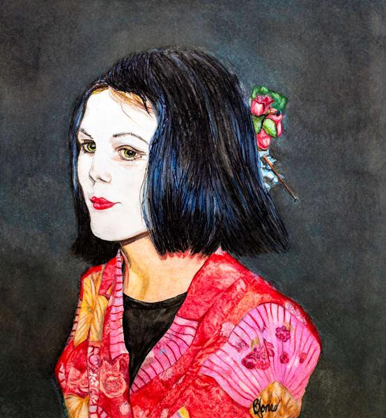 Dress Up Geisha Art   Jones Family Art