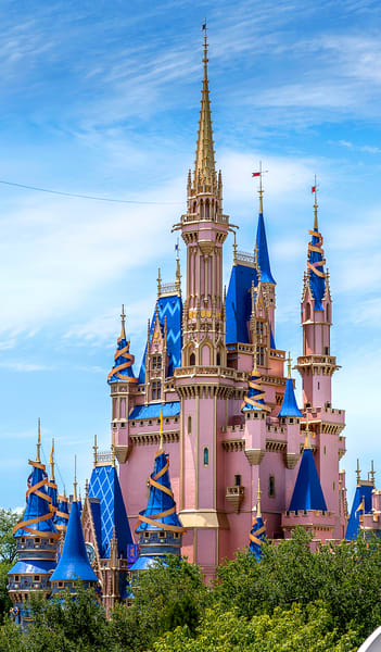 50th Anniversary Cinderella S Castle From The People Mover   Phone Case Photography Art | William Drew Photography