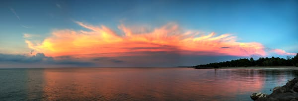 EASTERN sky at sunset from Hamlin Beach 20210628