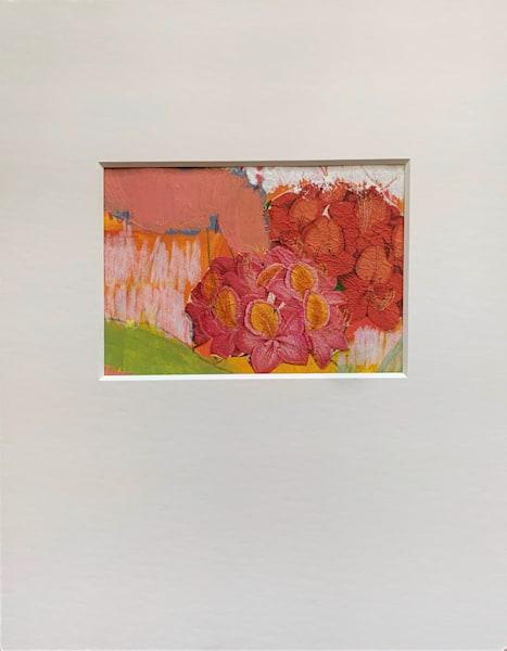 Geranium Collage Art | Julie Brown Art