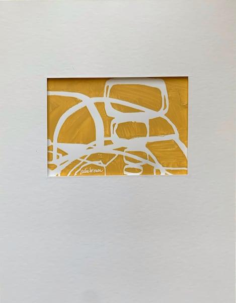 Yellow Grid Ii Art   Julie Brown Art