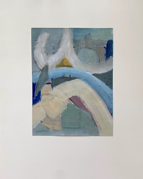Blue Abstract Study Art   Julie Brown Art