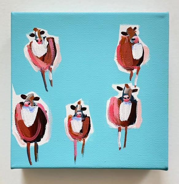 Mini Cows Sky Blue | Lesli DeVito