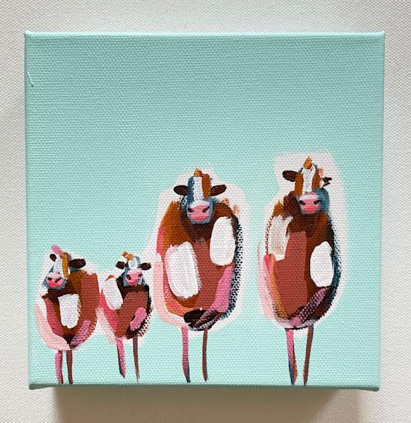 Mini Cows Beach Mint | Lesli DeVito