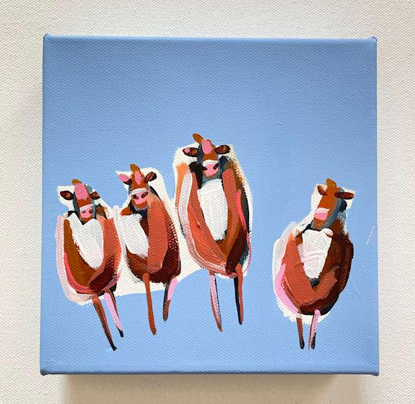Mini Cows Periwinkle | Lesli DeVito