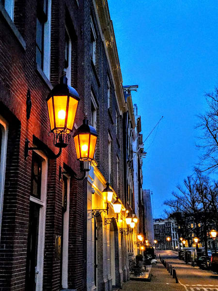 Amsterdam Lamps At Dusk Photography Art   Photoissimo - Fine Art Photography