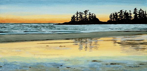 West Coast Study 72 inspired by Tofino sunsets, 11x14, acrylic on canvas