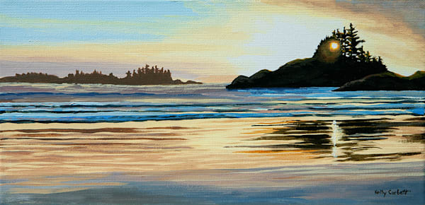 West Coast Study 75, 6x12 acrylic on canvas, inspired by Tofino