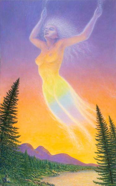 Spectral Spirit original oil painting