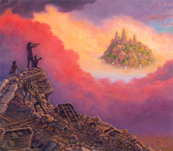 Lost Horizon original oil painting