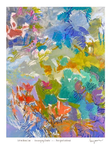 Let Me Bloom, I Am Haiku Print Art | Dorothy Fagan Joy's Garden