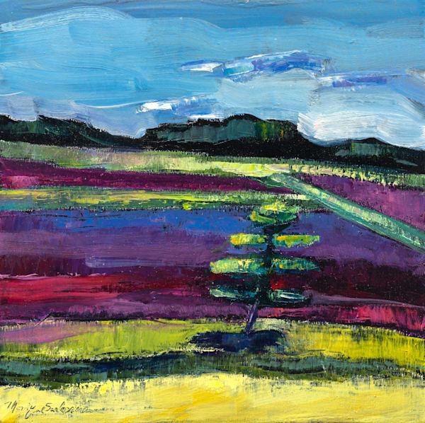"Striking high quality print of ""Cape Cod Cranberry Farm 2"" by Monique Sarkessian. Painted en plein air in Cape Cod, MA."