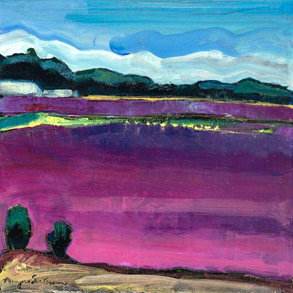 "Striking high quality print of ""Cape Cod Cranberry Farm 1"" by Monique Sarkessian. Painted en plein air in Cape Cod, MA."