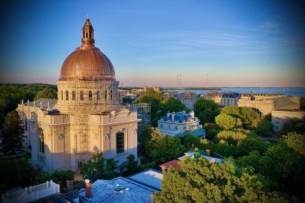 The Naval Academy Chapel   Renewed Art   Jeff Voigt Owner/Aerial Photographer