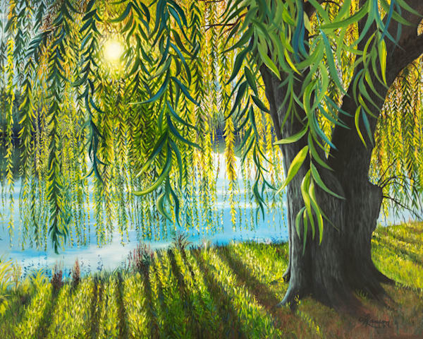 Willow Sunrise Art   Leanne Hanson Art