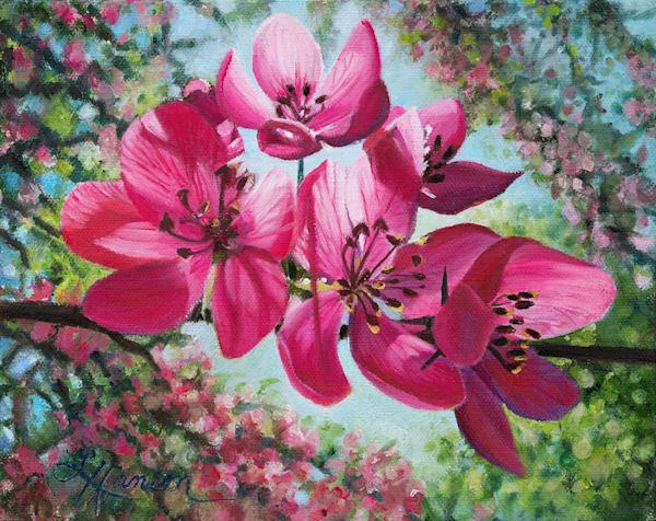Pink Apple Blossoms Art | Leanne Hanson Art
