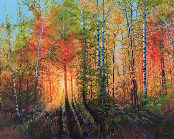 Blazing Fall Sunset Art | Leanne Hanson Art