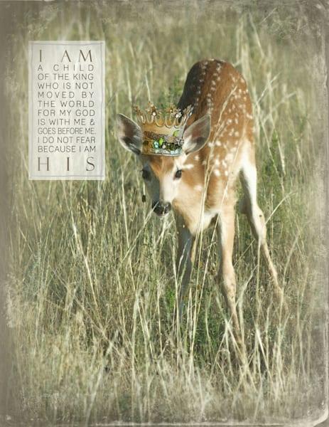 """Sparkly Deer """"I Am"""" Art"""