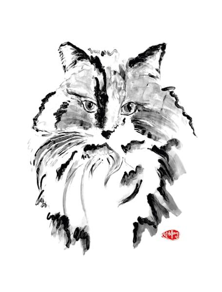 Chloe: Longhair Cat Art | Youngi-Sumistyle pets