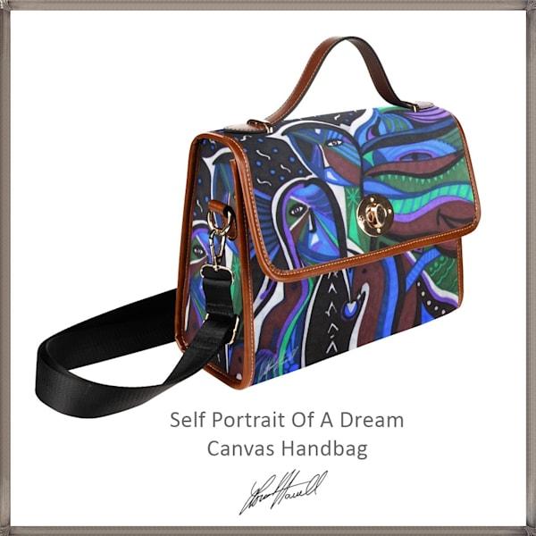 Self Portrait Of A Dream Canvas Handbag