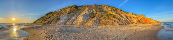 Gay Head Cliffs Panorama Art   Michael Blanchard Inspirational Photography - Crossroads Gallery